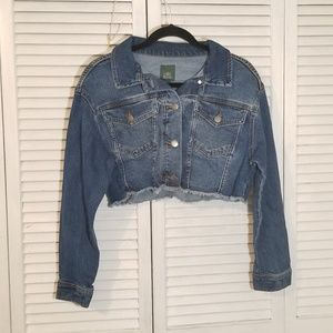 Wild Fable Cropped Distressed  Denim Jean Jacket